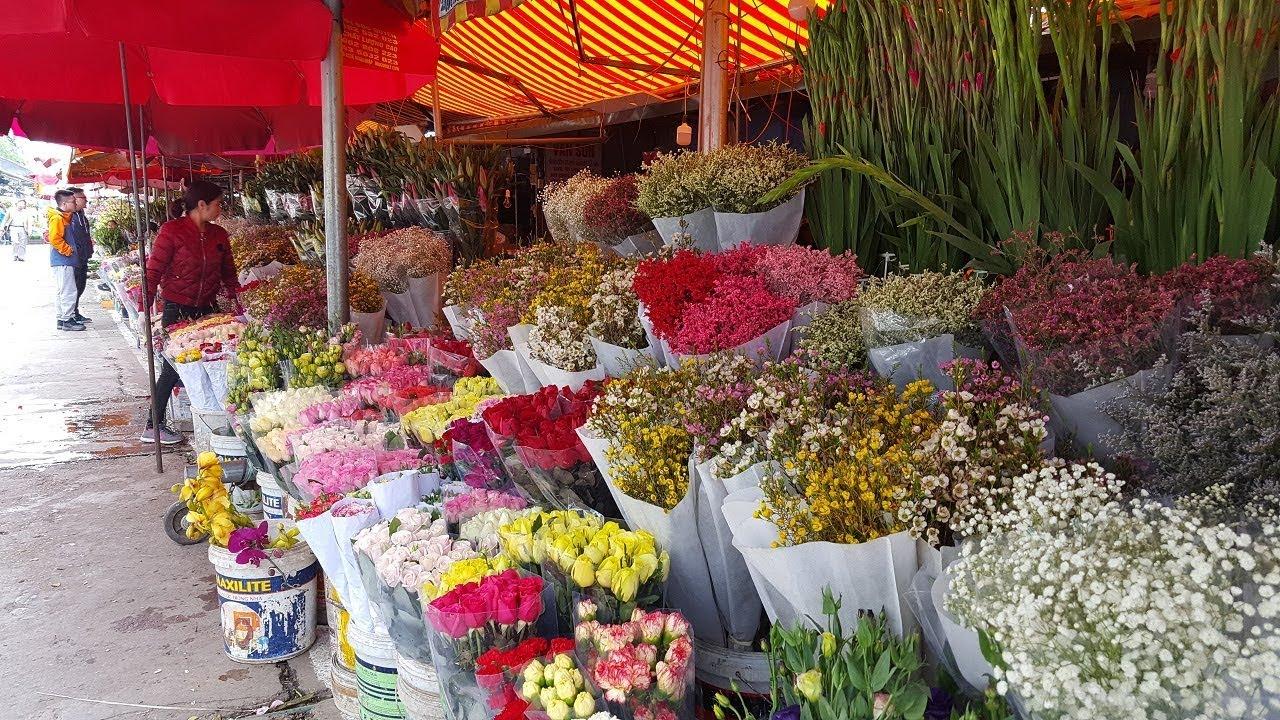 Kết quả hình ảnh cho chợ hoa quảng bá