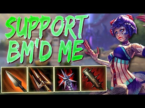 Arachne Masters: SUPPORT TOLD ME TO SHUT THE **** UP! - Ranked Smite