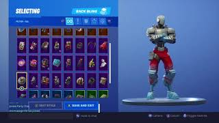 Fortnite Battle Royale A.I.M Skin With All Back Blings and Contrails
