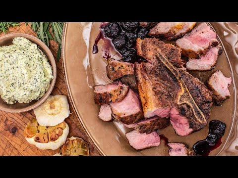 How To Make Pork Shoulder Steak With Cherry Compote And Herbed Butter By Angie Mar