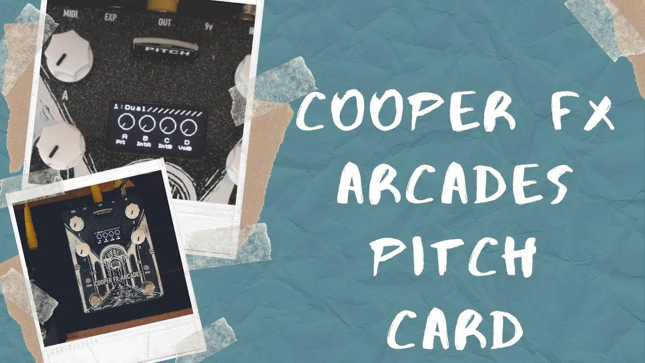 Cooper FX Arcades Individual Card; Pitch
