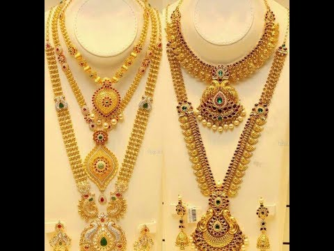 Latest/New Gold Haram Necklace Set Designs