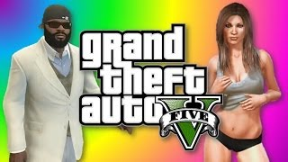 GTA 5: How To Get A Girlfriend, Indestructible Lawnmower (GTA V Funny Moments)