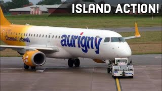 Rainy Plane Spotting at Guernsey Airport, GCI | Channel Island…