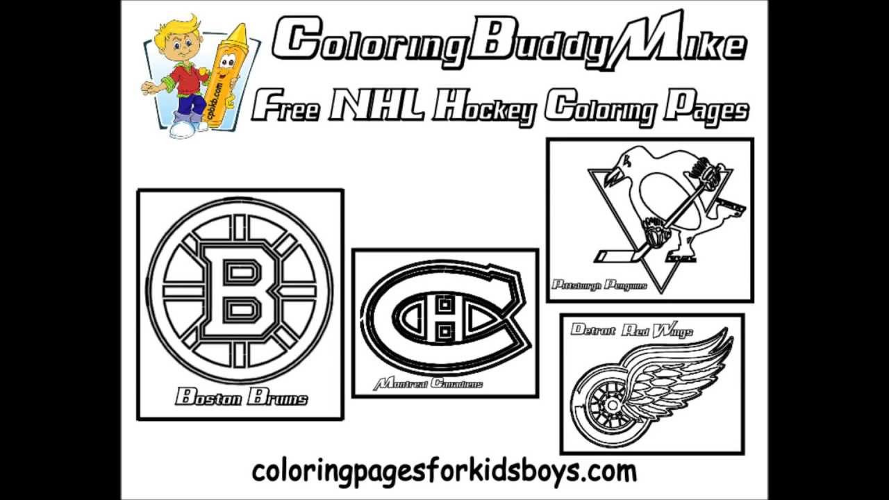 ColoringBuddyMike NHL Hockey Coloring Pages YouTube