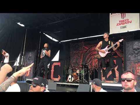 Chelsea Grin - Recreant - Live Vans Warped Tour 2018 Wantagh New York