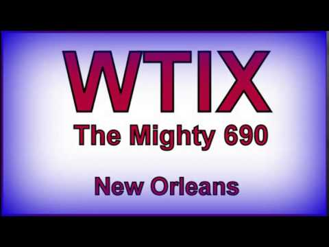WTIX AM 690 Radio, New Orleans, Scoped One, 1972.