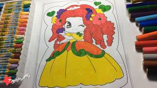 Colors for Children to Learn with Princess, Coloring princess for Girl