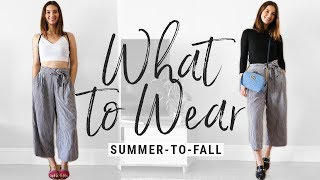 how to style SUMMER clothes for FALL!  WHAT TO WEAR in-between seasons!