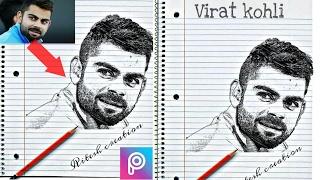 Fan made sketch PicsArt tutorial, sketch effect picsart photo editing hindi/urdu,picsart sketch,