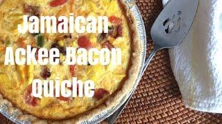 Jamaican Ackee Bacon Quiche  Delicious!