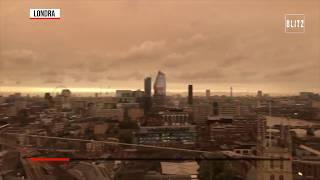 Ophelia, il cielo sopra Londra si colora di arancione