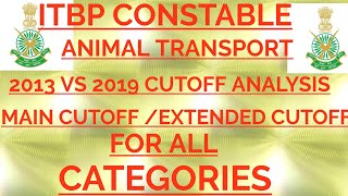 ITBP CT ANIMAL TRANSPORT | 2013 VS 2019 | EXTENDED LIST ● MAIN LIST | CUTOFF