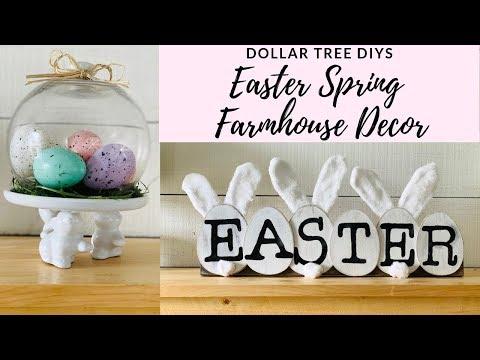 Dollar Tree DIY Easter Spring Farmhouse Decor