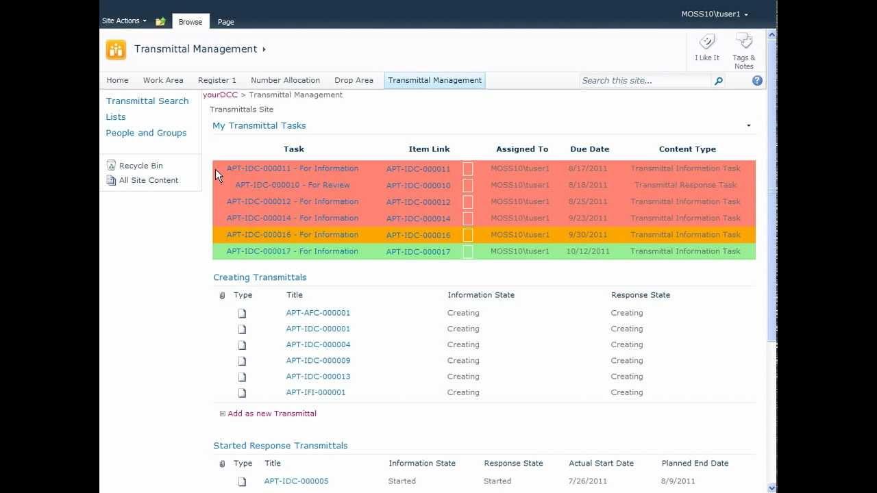 Document Management Software Transmittals Management