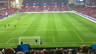 Rangers 2-0 St Mirren First Home game Fans sing Simply the best, Blue Sea of Ibrox