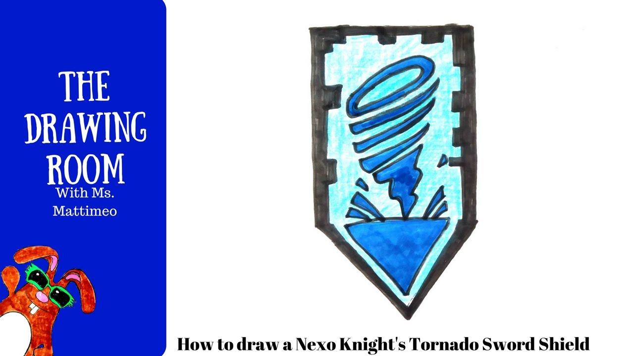 How To Draw A Nexo Knight Shield