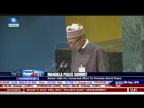 Mandela Peace Summit: Buhari Calls For Concerted Effort To Promote World Peace