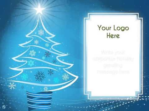 Corporate Christmas Ecards Modern Ribbon Christmas Tree By