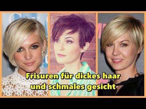 Frisuren Für Dickes Haar Und Schmales Gesicht Youtube