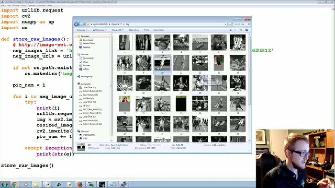 Gathering Images for Haar Cascade - OpenCV with Python for Image and Video  Analysis 18