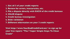 Do It Yourself Credit Repair - 7 Steps