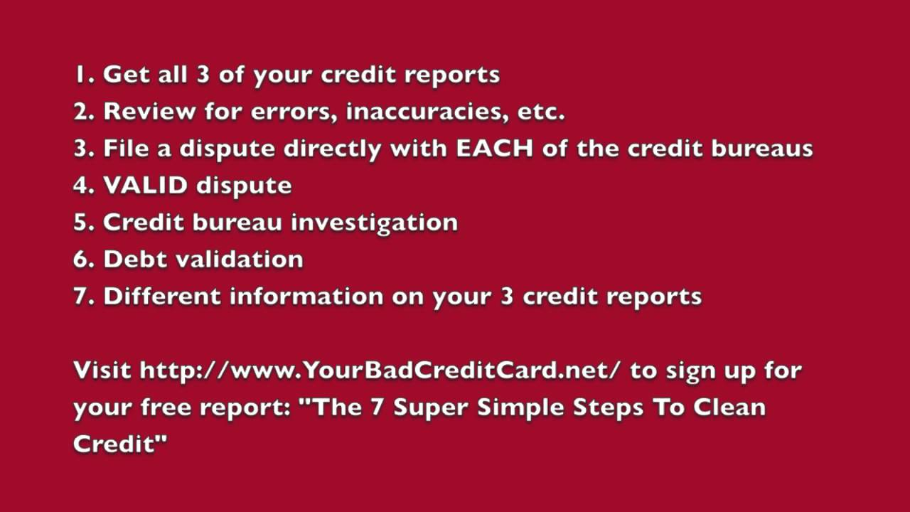 Do it yourself credit repair 7 steps youtube do it yourself credit repair 7 steps solutioingenieria Images