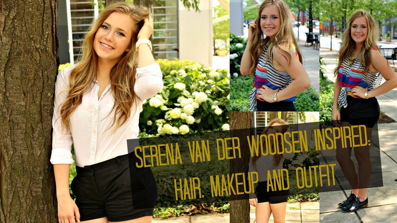 serena van der woodsen inspired: hair, makeup & outfit - youtube