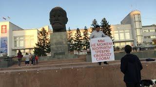 Пикет на площади Советов