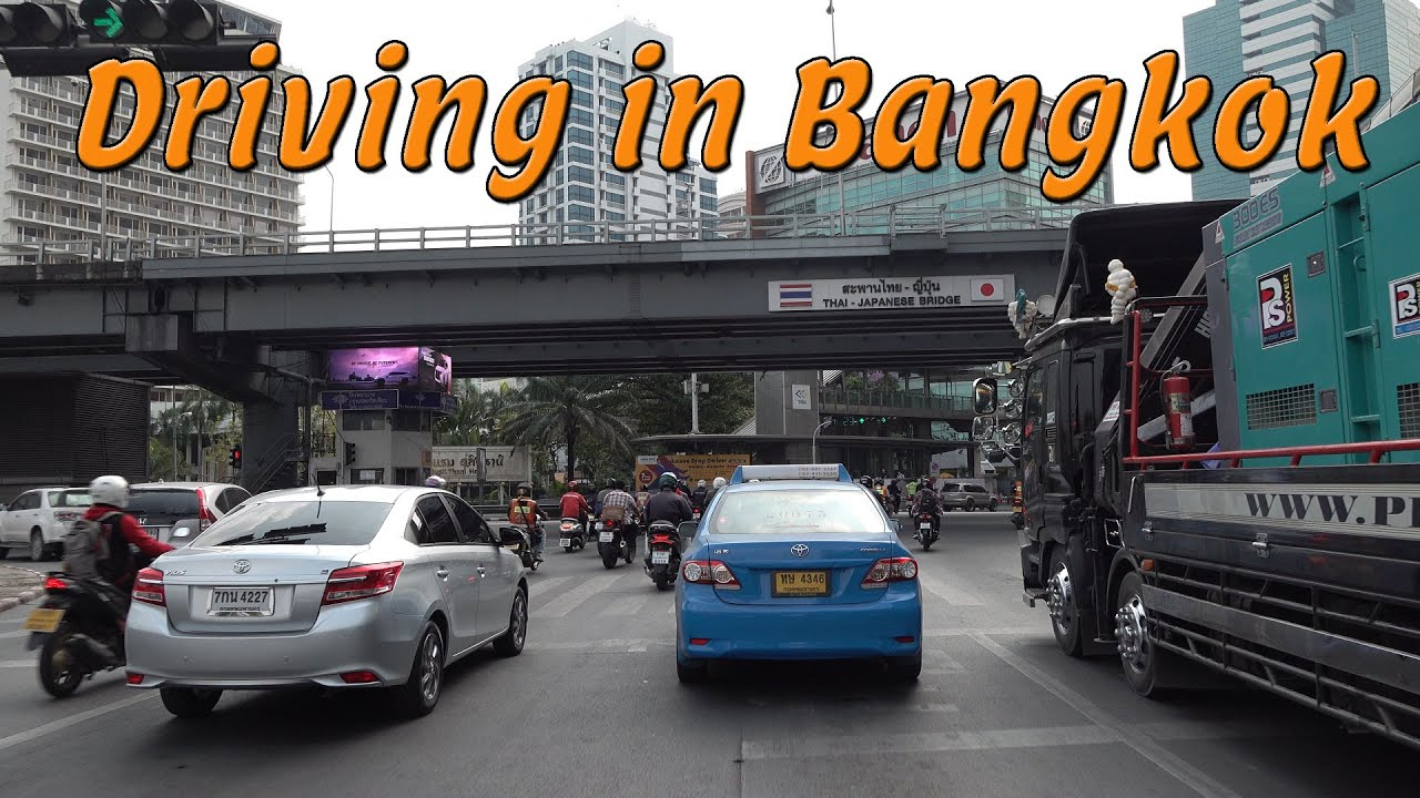 Driving in Bangkok Thailand 4k
