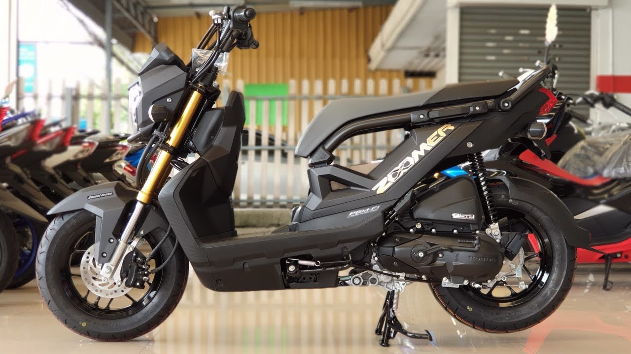New Honda Zoomer X 110 Cc 2019 Black Youtube