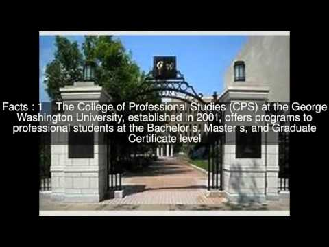 George Washington University College of Professional Studies Top  #5 Facts