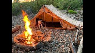 Wild island camp under canvas