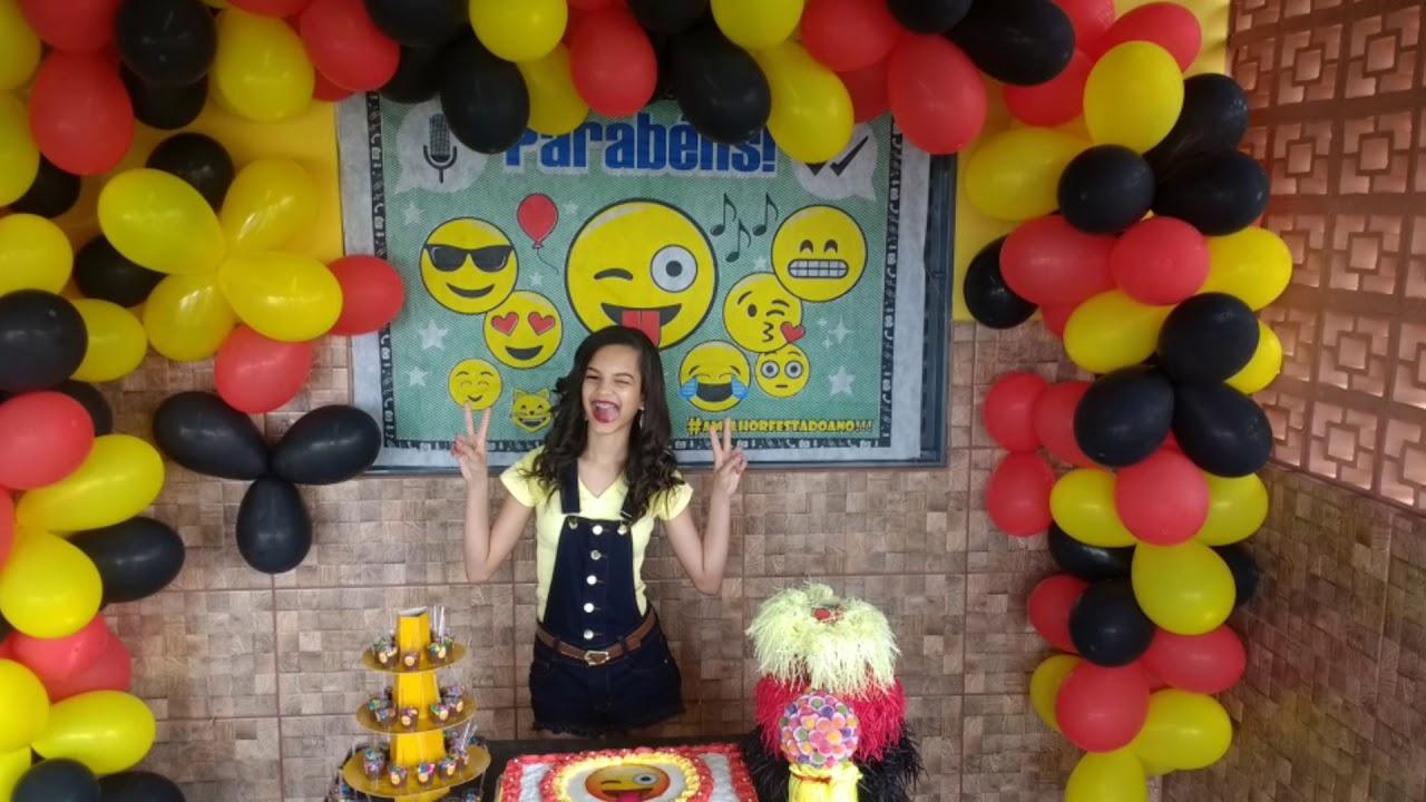 Minha festa de Aniversário EMOJI ud83d ude1c ud83c udf82 ud83c udf87 YouTube -> Decoração De Festa Tema Emoji