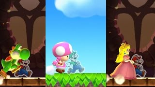Super Mario Run: Toad Rally - All Characters Gameplay (Yoshi, Peach, Toad, Toadette)