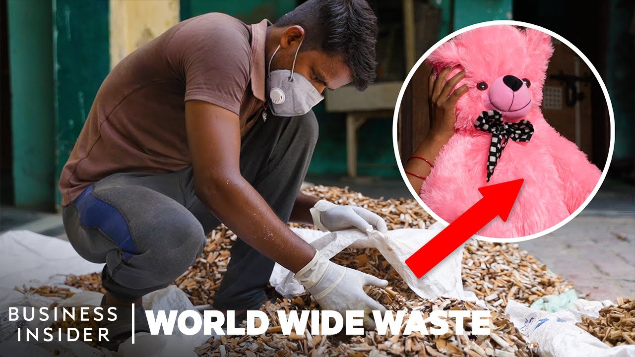 How Cigarette Butts Are Turned Into Teddy Bear Stuffing | World Wide Waste