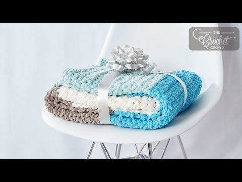 How to Crochet A 🐣  Baby Blanket for Beginners - Slowed Down