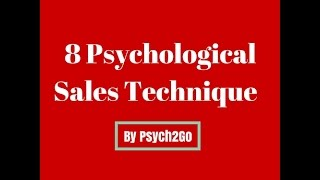 Eight Psychological Sales Technique | Psych2Go Special