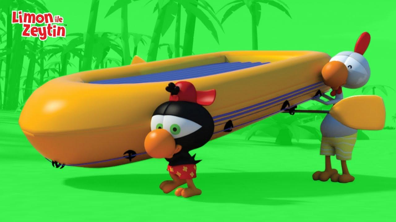 LİMON İLE ZEYTİN: Büyük Sarı Bot - 38. Bölüm - Eğlenceli Deniz Macerası | Türkçe Çizgi Film