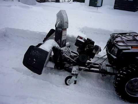 Souffleur 224 Neige Pour Vtt Snowblower Atv Test 2 Youtube