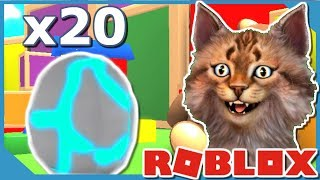 UNBOXING 20x LEGENDARY PET EGG IN ROBLOX MINING SIMULATOR