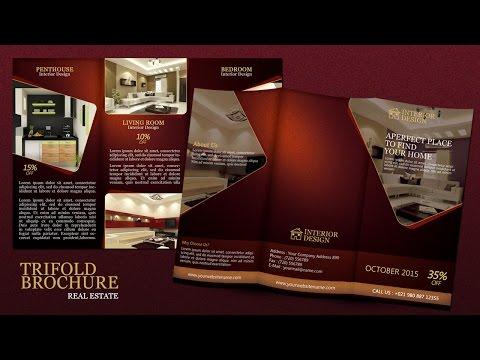 Create a Tri fold Real Estate Brochure Photoshop Tutorial