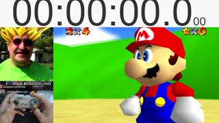 Super Mario 64 WORLD RECORD SPEED RUN - 0 Star - TODD ROGERS