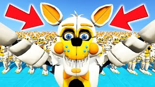 new foxy animatronic army in gta 5 gta 5 mods for kids fnaf funny moments