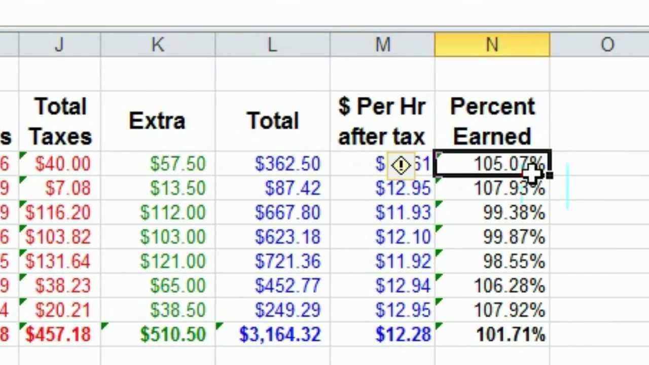 Excel: Simple and good way to keep track of income - YouTube
