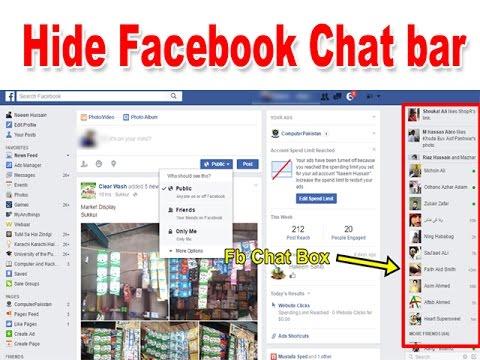 #18 Hide Facebook Chat Bar (hindi)