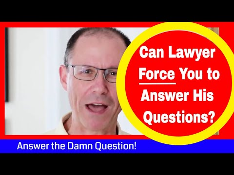 Can Defense Lawyer FORCE You to Answer His Questions During Your Deposition Here in New York?
