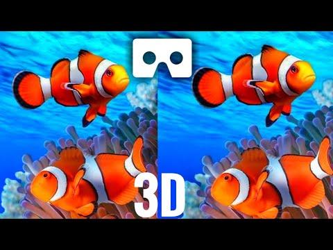 VR Videos 3D Aquarium VR Relaxation 3D VR 4K for Google Cardboar VR BOX 3D not 360 VR