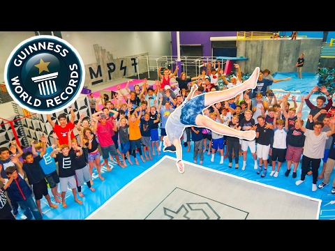 BREAKING SUPER TRAMPOLINE WORLD RECORDS AT WORLD&39;S MOST FAMOUS TRAMPOLINE PARK 14 CODYS