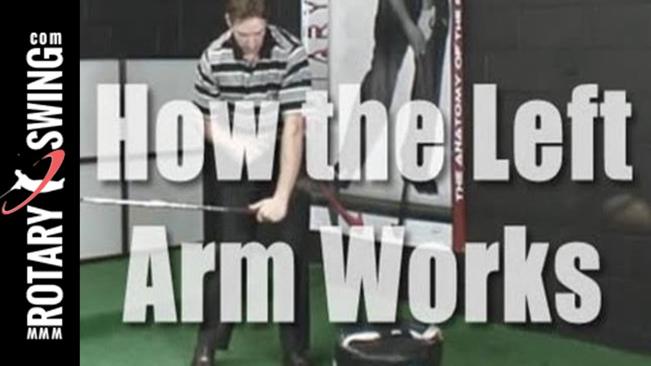 How Tiger Woods Left Arm Works in the Downswing to Increase Lag - Left Arm  Golf Swing